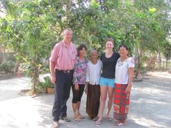Owners and volunteers at the Meas Homestay where I stayed.