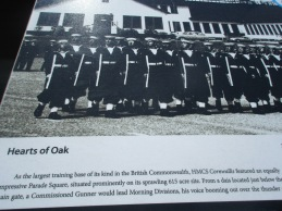A plaque showing training recruits.