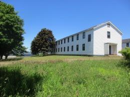 A barracks building.